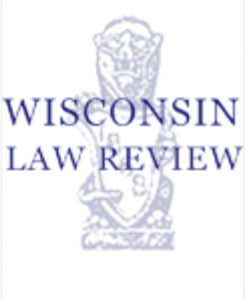 Photo of Wisconsin Law Review logo.